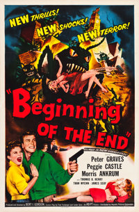 "Beginning of the End (Republic, 1957). One Sheet (27"" X 41""). Science Fiction"