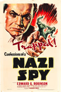 """Movie Posters:Drama, Confessions of a Nazi Spy (Warner Brothers, 1939). MP Graded One Sheet (27"""" X 41"""").. ..."""