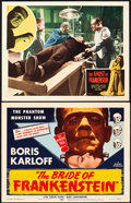"Movie Posters:Horror, The Bride of Frankenstein and Other Lot (Realart, R-1953). TitleLobby Card and Lobby Card (11"" X 14"").. ... (Total: 2 Items)"