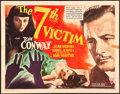 "Movie Posters:Mystery, The Seventh Victim (RKO, 1943). Half Sheet (22"" X 28"") Style B.. ..."