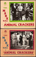 "Movie Posters:Comedy, Animal Crackers (Paramount, R-1930s). Lobby Cards (2) (11"" X 14"")..... (Total: 2 Items)"