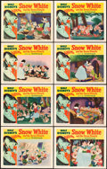 "Movie Posters:Animation, Snow White and the Seven Dwarfs (RKO, R-1951). Lobby Card Set of 8(11"" X 14"").. ... (Total: 8 Items)"
