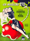 "Movie Posters:Comedy, The Lady Eve (Paramount, 1947). First Release Danish Poster (24"" X33.5"").. ..."