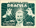 "Movie Posters:Horror, Dracula (Universal, R-1947). Title Lobby Card (11"" X 14"").. ..."
