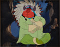 Animation Art:Production Cel, Peter Pan Production Cel and Hand-Painted BackgroundAnimation Art (Walt Disney, 1953)....