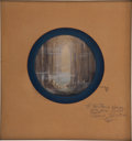 Animation Art:Production Drawing, Fantasia Production Painting Animation Art Signed by WaltDisney (Disney, 1940)....