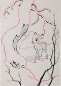 Animation Art:Production Drawing, Bambi Illustration Original Art (Walt Disney, c. 1942)....