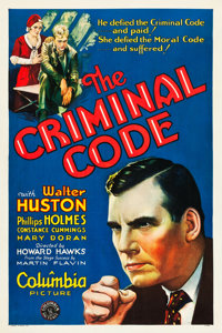 """The Criminal Code (Columbia, 1931). One Sheet (27"""" X 41"""") Style A"""