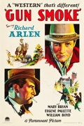 "Movie Posters:Western, Gun Smoke (Paramount, 1931). One Sheet (27"" X 41"").. ..."