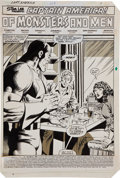 Original Comic Art:Splash Pages, Mike Zeck and John Beatty Captain America #279 Splash Page 1Original Art (Marvel, 1983)....