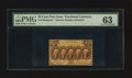 Fractional Currency:First Issue, Fr. 1282SP 25¢ First Issue Narrow Margin Face PMG Choice Uncirculated 63.. ...