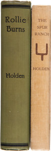 Books:Signed Editions, Two William Curry Holden Books Signed including:... (Total: 2Items)