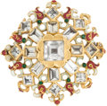Miscellaneous, [Pancho Villa]. Gold Brooch Presented by Villa to Mrs. MaxFischbein. ... (Total: 2 Items)
