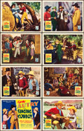 """Movie Posters:Western, The Singing Cowboy (Republic, 1936). Lobby Card Set of 8 (11"""" X14""""). ... (Total: 8 Items)"""