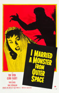 """Movie Posters:Science Fiction, I Married a Monster from Outer Space (Paramount, 1958). One Sheet (27"""" X 41"""").. ..."""