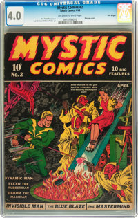 Mystic Comics #2 Billy Wright pedigree (Timely, 1940) CGC VG 4.0 Off-white to white pages
