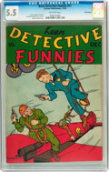Golden Age (1938-1955):Miscellaneous, Keen Detective Funnies #11 Billy Wright pedigree (Centaur, 1938) CGC FN- 5.5 Off-white pages....