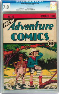 New Adventure Comics #20 Billy Wright pedigree (DC, 1937) CGC FN/VF 7.0 Off-white to white pages