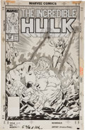 Original Comic Art:Covers, Steve Geiger and Bob McLeod Incredible Hulk #338 CoverOriginal Art (Marvel, 1987)....