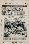 Original Comic Art:Covers, Larry Lieber and George Roussos Rawhide Kid #106 Cover Original Art (Marvel, 1972)....