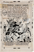 Original Comic Art:Covers, Herb Trimpe Monsters on the Prowl #17 Cover Original Art(Marvel, 1972)....