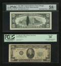 Error Notes:Error Group Lots, Fr. 2018-G* $10 1969 Federal Reserve Star Note. PMG Choice AboutUnc 58 EPQ; Fr. 2060-D* $20 1950A Federal Reserve Star Note. ...(Total: 2 notes)