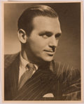 Books:Signed Editions, Douglas Fairbanks Jr. Signed Reproduction Still by George Hurrell. Measures 8 x 10 inches. Boldly signed by Fairbanks. F...