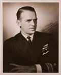 Books:Signed Editions, Douglas Fairbanks Jr. Signed Original Still of Fairbanks in Military Dress Uniform. Measures 8 x 10 inches. Signed and ins...