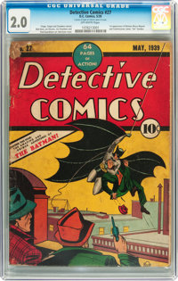 Detective Comics #27 (DC, 1939) CGC GD 2.0 Off-white pages