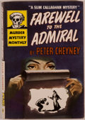 Books:Mystery & Detective Fiction, Peter Cheyney. Farewell to the Admiral. New York: Avon,[1945]. No. 30. of the Murder Mystery Monthly. Octavo. 1...