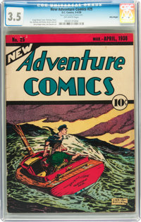 New Adventure Comics #25 Billy Wright pedigree (DC, 1938) CGC VG- 3.5 Off-white pages