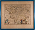 Books:Maps & Atlases, [Map]. Willem Janszoon Blaeu. Dominio Fiorentino. [Amsterdam: ca. 1640]. Wonderful engraved and hand-colored map of ...