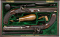 Handguns:Muzzle loading, Cased Pair of English Flintlock Dueling Pistols by Williams & Powell, Liverpool.... (Total: 2 Items)