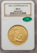 Early Eagles: , 1803 $10 Extra Star MS61 NGC. CAC. NGC Census: (6/19). PCGS Population (1/7). (#88565)...