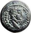 Ancients:Judaea, Ancients: Agrippa II (49/50 - 94/95 AD). Mint of Caesarea Maritima.AE (25mm, 11.28 gm, 12h)....