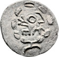 Ancients:Judaea, Ancients: Bar Kokhba Revolt (132 - 135 AD). AR irregular zuz (18mm, 3.23 gm, 12h). ...