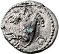 Ancients:Judaea, Ancients: Bar Kokhba Revolt (132 - 135 AD). AR irregular fouree zuz(18mm, 2.25 gm, 6h). ...
