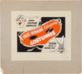 Original Comic Art:Miscellaneous, Collegeville Costumes Advertisement Sketch Original Art (TheWeller Company, undated)....
