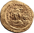 Ancients:Judaea, Ancients: Jerusalem. Heraclius (610 - 641 AD). AV solidus (21mm, 4.32 gm, 6h). ...