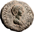 Ancients:Judaea, Ancients: Caesarea Paneas, Galilee. Plautilla, wife of Caracalla(198 - 217 AD). AE (14.22 gm, 12h). ...
