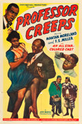 """Movie Posters:Black Films, Professor Creeps (Toddy Pictures, 1942). MP Graded One Sheet (27"""" X41"""").. ..."""