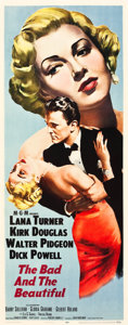 """Movie Posters:Drama, The Bad and the Beautiful (MGM, 1953). Insert (14"""" X 36"""").. ..."""
