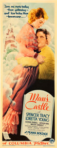 "Movie Posters:Drama, Man's Castle (Columbia, 1933). Insert (14"" X 36"").. ..."
