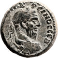 Ancients:Judaea, Ancients: Eleutheropolis, Judaea. Macrinus (218 AD). AE (23mm,11.27 gm, 1h). ...