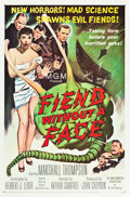 "Movie Posters:Science Fiction, Fiend Without a Face (MGM, 1958). MP Graded One Sheet (27"" X 41"").. ..."