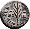Ancients:Judaea, Ancients: Agrippa II (49/50 - 94/95 AD). Mint of Tiberias. AE(18.5mm, 5.66 gm, 12h). ...
