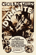"Movie Posters:Drama, Dynamite (MGM, 1929). Rotogravure One Sheet (27"" X 41"").. ..."