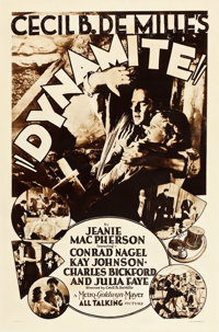 "Dynamite (MGM, 1929). Rotogravure One Sheet (27"" X 41"")"
