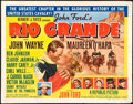 "Movie Posters:Western, Rio Grande (Republic, 1950). Half Sheet (22"" X 28""). Style B.. ..."