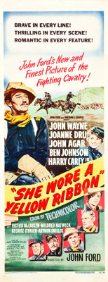 "She Wore a Yellow Ribbon (RKO, 1949). Insert (14"" X 36"")"